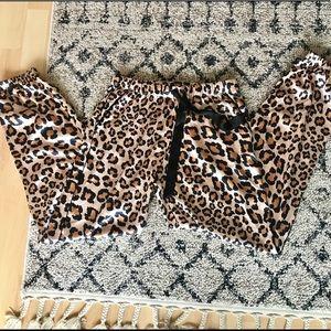 XS Victoria's Secret Leopard Satiny Pajama Pants